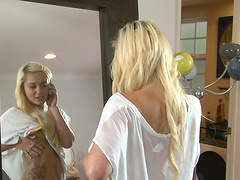 Great sex with a naughty blonde teen