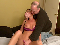 Brandy Aniston is fucked by a machine