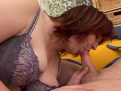 Mature BBW is fucked by a horny fella