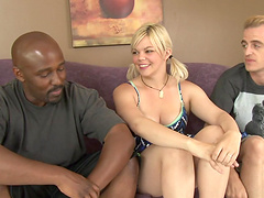 Interracial sex for the slutty blonde Alice Frost