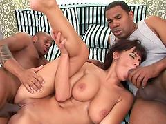 Interracial sex for the busty milf Veronica Vanoza