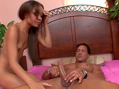Amazing sex for Jaslin Diaz with a massive cock