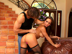 Rachel Roxxx is fucked silly while wearing stockings