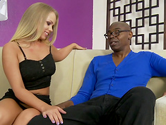 Rough interracial sex for the sexy blonde Britney Young ç