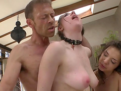 Threesome sex with two horny and insatiable ladies