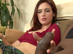 Amazing interracial sex with the horny redhead Jodi Taylor