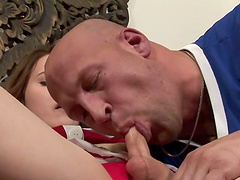 A mouthful of cum for the horny shemale Hazel Tucker
