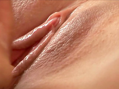 Debbie White gets splattered by cum after being fucked