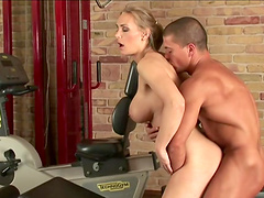 Rough sex with the horny blonde Tanya Tate