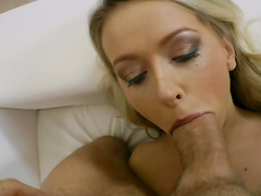 Wild POV sex leaves slutty blonde with a messy facial