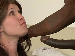 Hottie gets her pink snatch fucked by BBC