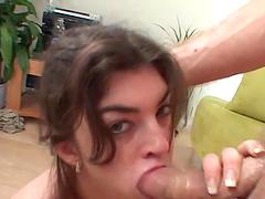 Lara Ann sucks on a big cock until it cum in her mouth