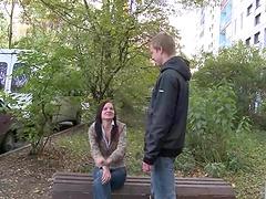 Teen couple fucks hard in amateur video