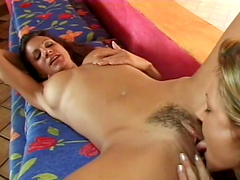 Sexy babes have sex in a hot lesbian scene
