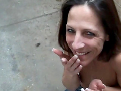 Marie Madison gets a mouthful of cum after giving head in POV