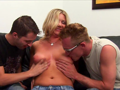 Threesome sex with the slutty Christina Skye