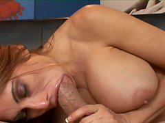 Rough sex leaves the horny milf Sheila Marie splattered by cum