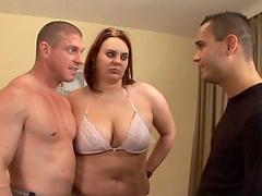 BBW slut gets fucked until her mouth's filled by semen