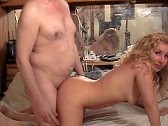Sexy blonde's fucked by a guy in amateur clip