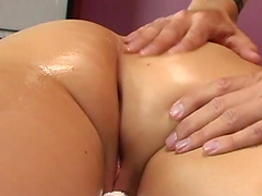 Cherry Lane is fucked after an oil massage