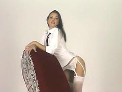 Solo scene with the horny Latina Renee Perez