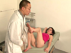 Jessie Palmer gives a guy a footjob before jerking a guy off