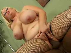 Amazing interracial sex with the BBW blonde Bunny De La Cruz