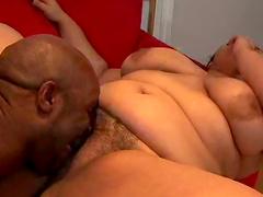 Interracial sex for the slutty BBW Karla Lane