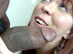 Interracial sex leaves Trinity Post with an anal creampie