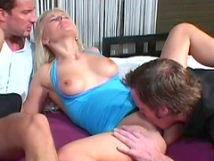 Rough threesome sex with the horny Sandra Russo