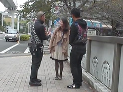 Japanese MILF gets nailed by two fuckers