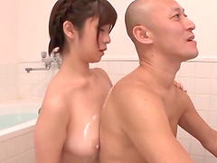 Rough sex in the bathroom with the horny Wakaba Onoue