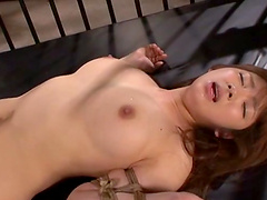 Shiori Kamisak is fucked silly by a guy after being tied up