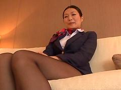 Miwako Yamamot is masturbated before being fucked silly