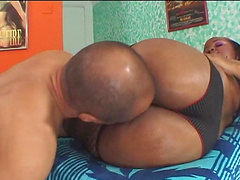 Incredible sex with the thick ebony babe Miss Suckable