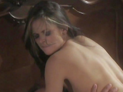 Great passionate sex with the horny brunette Cassie Courtland c