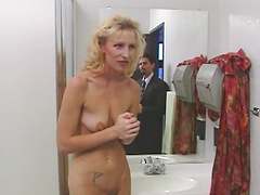 Rough sex with the horny blonde milf Sahara Sands