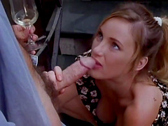 Rough sex on an outdoors staircase with the hot Roxanne Blaze