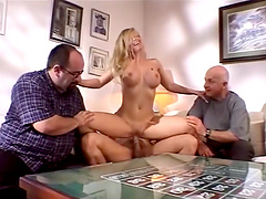 Nina Ferrari is fucked hard by a guy in vintage video