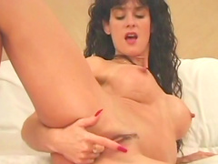 Angel Williams fingers her wet pussy in solo scene