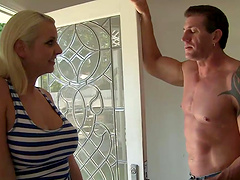 Hot sex with the horny blonde Mandy Sweet