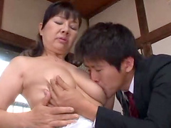 Mature Asian With Natural Tits Delivering A Wet Blowjob