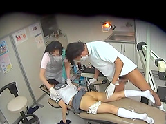 Asian hottie is fucked by her dentist after he appointment
