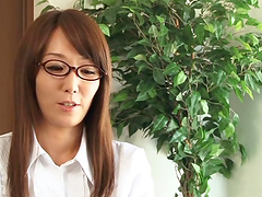 Mature Asian is fucked by a guy in her office