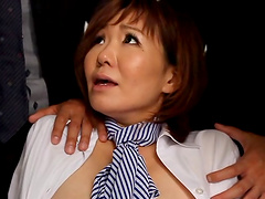 Asian babe's gangbanged by guys that masturbate her with toys