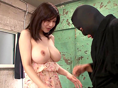 Busty Asian babe is fucked silly by a horny masked guy