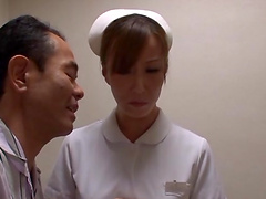 Nçurse Shiori Ihara sucks a patient's cock until he cums in her mouth