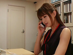 Akiho Yoshizawa is fucked in the office by a coworker