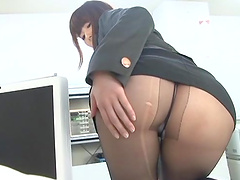 Office sex with a horny Japanese babe