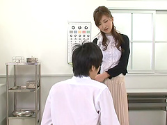 Hot office sex among a hot Japanese babe and one of her coworkers